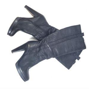 ALDO Leather Platform Chunky Heel Boots 6
